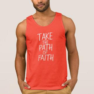 Nehmen Sie den Weg des Glaubens - Schriftart/die Tank Top