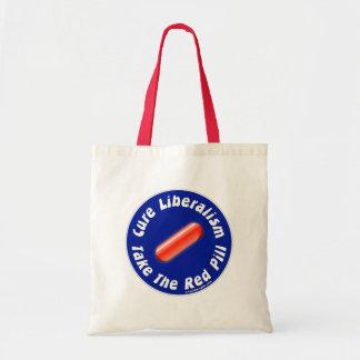 Nehmen Sie die rote Pillen-Taschen-Tasche Budget Stoffbeutel