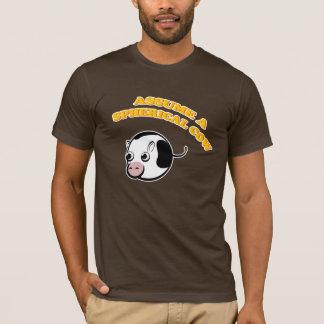 Nehmen Sie eine kugelförmige Kuh an T-Shirt