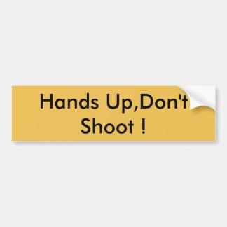 Nehmen Sie einen Stand gegen Polizei-Brutalität Autoaufkleber