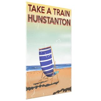 Nehmen Sie einen Zug hunstanton zum Vintagen Leinwanddruck