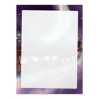 Nehmen Sie einen Zug zum Mond-Cartoonplakat 16,5 X 22,2 Cm Einladungskarte