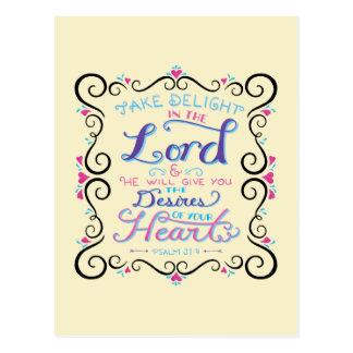 Nehmen Sie Freude im Lord Postkarte
