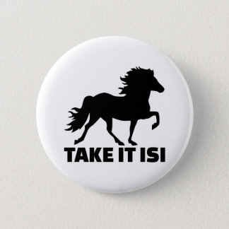 Nehmen Sie ihm Isi Island Pferd Runder Button 5,1 Cm