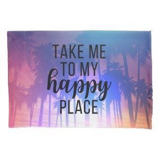 Nehmen Sie mich zu meinen glücklichen Platz Boho Kissenbezug