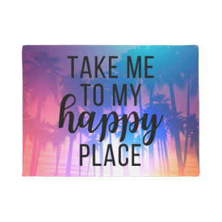 Nehmen Sie mich zu meinen glücklichen Platz Boho Türmatte