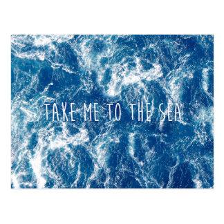 Nehmen Sie mich zum Meer Postkarte