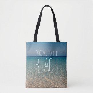 Nehmen Sie mich zum Strand-Meerwasser-blauer Tasche