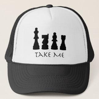 Nehmen Sie mir Schach-Stücke Truckerkappe