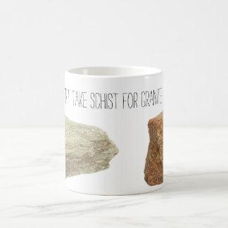 Nehmen Sie nicht Schiefer für Granit Kaffeetasse