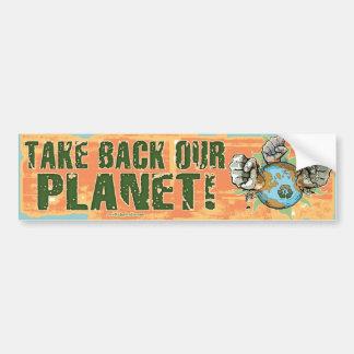 Nehmen Sie unseren Planeten-Rückseiten-Tag der Erd Autoaufkleber