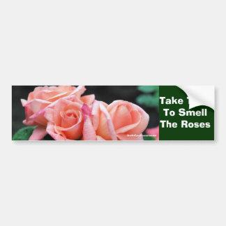 Nehmen Sie Zeit-Geruch-Rosen Inspirational Autoaufkleber
