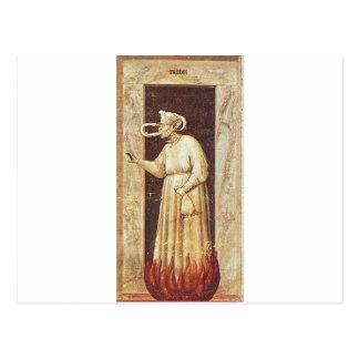 Neid durch Giotto Postkarte