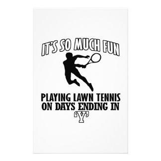 Neigen cooler Rasen-Tennis Entwürfe Briefpapier