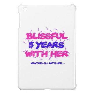 Neigen der 5. Heiratjahrestagsentwürfe iPad Mini Hülle