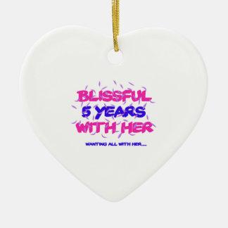 Neigen der 5. Heiratjahrestagsentwürfe Keramik Ornament