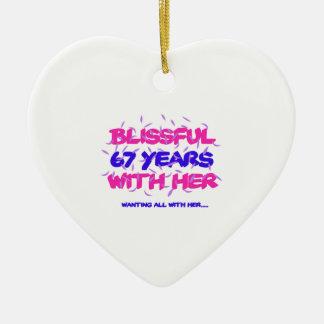 Neigen der 67. Heiratjahrestagsentwürfe Keramik Herz-Ornament