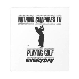 Neigen der coolen Golfentwürfe Notizblock
