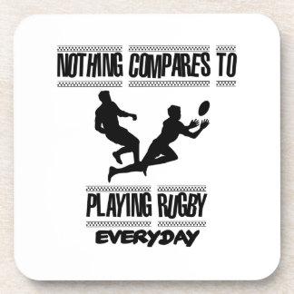 Neigen der coolen Rugbyentwürfe Getränkeuntersetzer