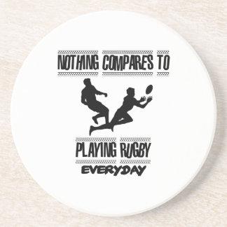 Neigen der coolen Rugbyentwürfe Sandstein Untersetzer