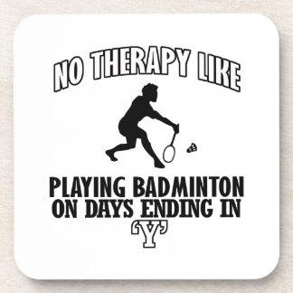 Neigen von Badmintonentwürfen Getränkeuntersetzer