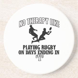 Neigen von Rugbyentwürfen Getränkeuntersetzer