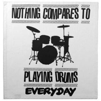 Neigen von Schlagzeugerentwürfen Serviette