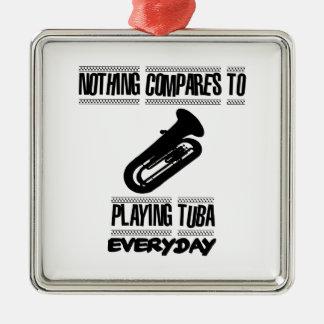 Neigen von Tubaspielerentwürfen Silbernes Ornament