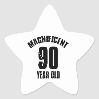NEIGEN VON VON 90 JÄHRIG-GEBURTSTAGS-ENTWÜRFEN Stern-Aufkleber