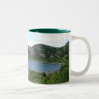 Neigungs-Bucht Zweifarbige Tasse