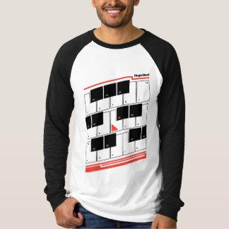Neigungs-Tastatur-Rot T-Shirt