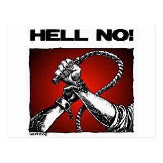 Nein! Antisklaverei-Unterscheidungs-Kunst Postkarte