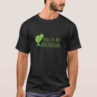 Nein, bin ich NICHT AUSTRALISCH (mit Kiwivogel und T-Shirt