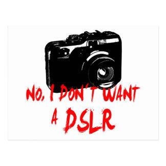 Nein, I don´t wollen ein DSLR Postkarte