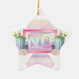 Nein Keramik Stern-Ornament