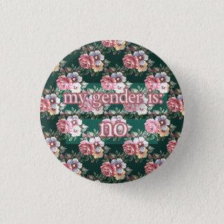 nein runder button 2,5 cm