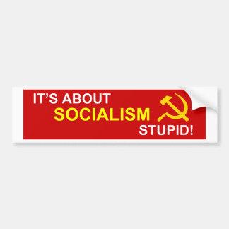 Nein zum Sozialismus Autoaufkleber