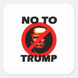 Nein zum Trumpf - Aufkleber