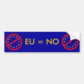 Nein zur EU Auto Sticker