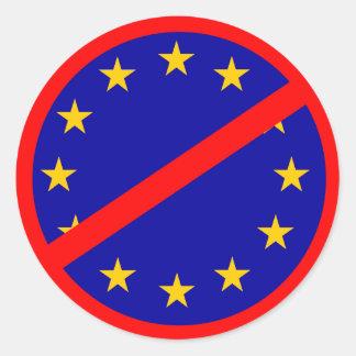 Nein zur EU Runder Aufkleber