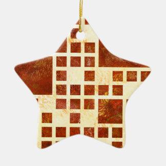 Nemissos V1 - gemalte Quadrate Keramik Ornament