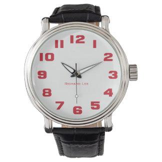 Nennen Sie die Uhr Ihres Mannes - Rot Armbanduhr