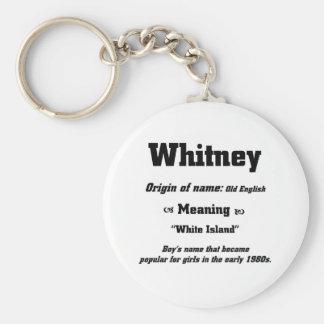 Nennen Sie Whitney Standard Runder Schlüsselanhänger