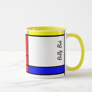 Neo-plasticism Mondrian Art Tasse
