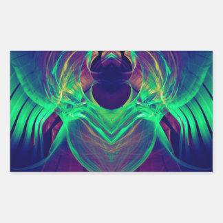 Neon Angel.JPG Rechteckiger Aufkleber