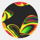 Neon Blätter Runder Aufkleber