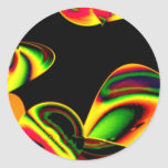 Neon Blätter Stickers