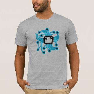 Neon-CPU-Computer-Chip T-Shirt