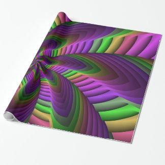 Neon färbt grelles verrücktes buntes geschenkpapier
