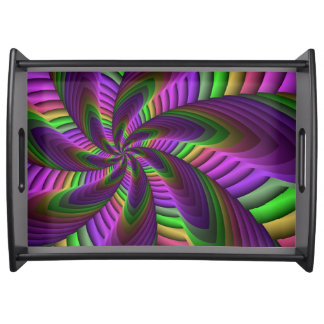 Neon färbt grelles verrücktes buntes tablett